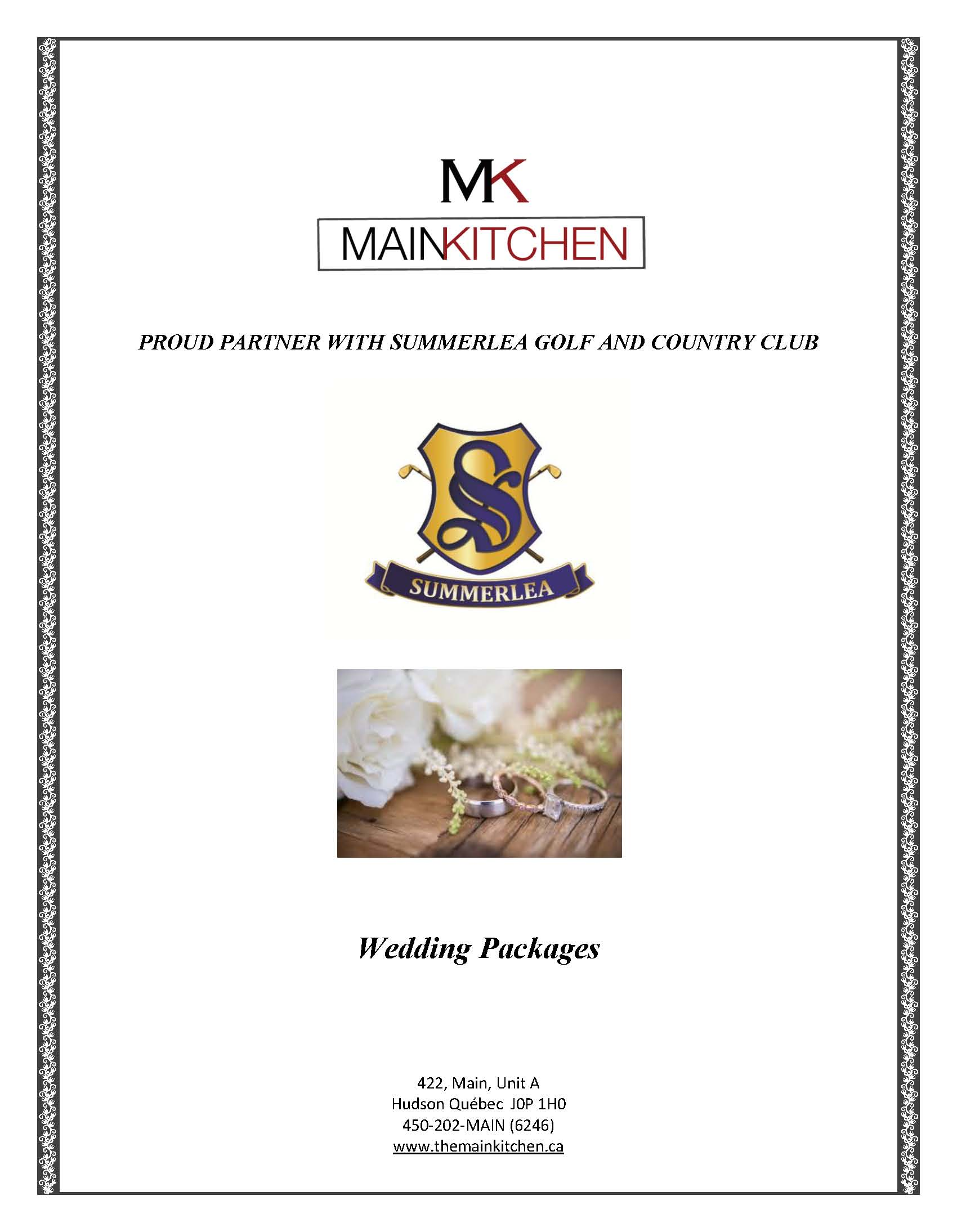 2018 MKG Wedding Packages Page 1
